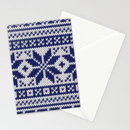 Winter knitted pattern 5 Stationery Cards
