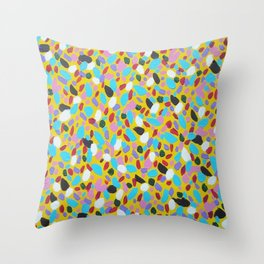 Chasing the Sun Abstract Art Throw Pillow