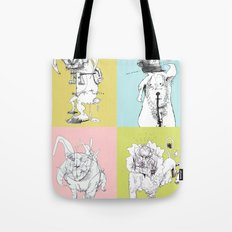 4 Little Animals Tote Bag