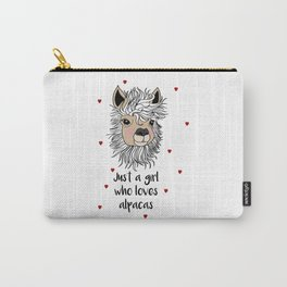 alpaca girl Llama Love Present Gift Carry-All Pouch
