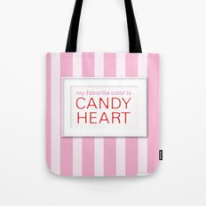 my favorite color is candy heart Tote Bag