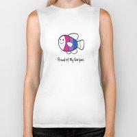 bisexual Biker Tanks featuring Bisexual Pride (Proud of My Stripes) by Kylie Summer Wu