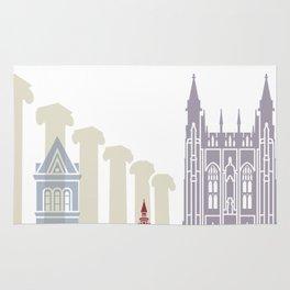 Columbia MO skyline poster Rug