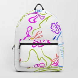 Bouquet of abstract flowers Backpack