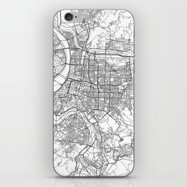 Taipei White Map iPhone Skin