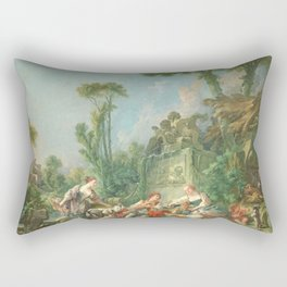 Francois boucher sheperds idill 1781 Spring Rectangular Pillow