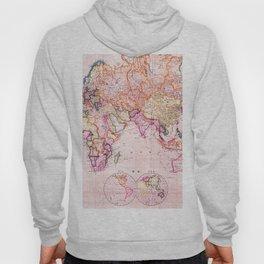 Vintage Map Pattern Hoody