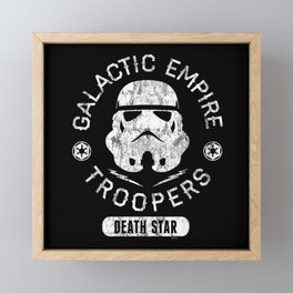 """Galactic Empire Troopers"" by Josh Ln Framed Mini Art Print"