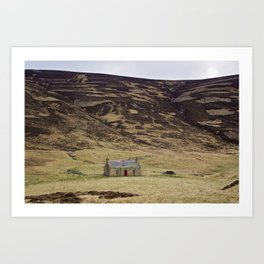 Rundown Cottage @ Cairngorms, Scotland Art Print