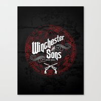 winchester Canvas Prints featuring Winchester & Sons by Manny Peters Art & Design