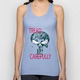 Tread Carefully Skull Unisex Tank Top