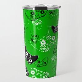 Video Game Green Travel Mug