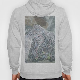 Snowbird Resort Trail Map Hoody