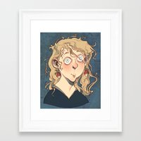 luna lovegood Framed Art Prints featuring Luna Lovegood by Naïs Quin