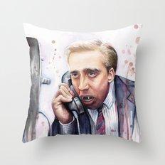 Nicolas Cage Vampire Meme Throw Pillow