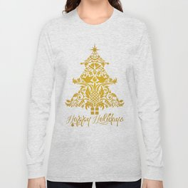 Ornate Pineapple Holiday Tree Long Sleeve T-shirt