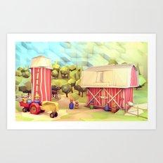 Fisher-Price Farm Art Print