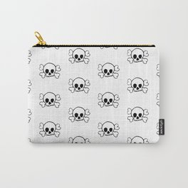 Black Skull and Crossbones Print and Pattern Carry-All Pouch