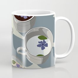 Purple Morning Flowers Coffee Mug