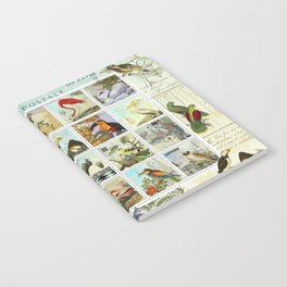 Birds of a Feather Postal Collage Notebook