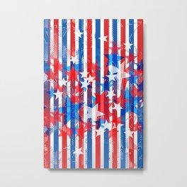 AMERICANA PATTERN Metal Print