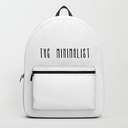 The Minimalist text Backpack