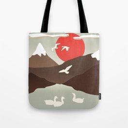 Swan Migration Tote Bag