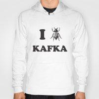 kafka Hoodies featuring Kafka by Ana Laya