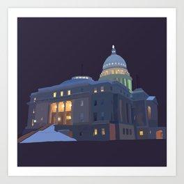 Capitol Snowfall Art Print