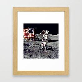 Salute on the Moon Framed Art Print