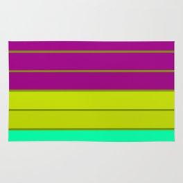 sTripes : Eggplant Purple Green Rug
