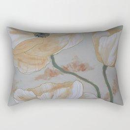 Papaveri bianchi Rectangular Pillow