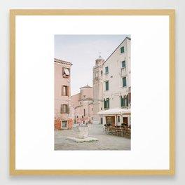 Quiet Venice Alley Framed Art Print