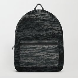 GRAYSCALE PHOTO OF BODY OF WATER Backpack