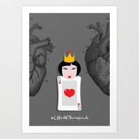 Off with their heads Art Print