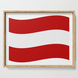 flag of austria Serving Tray
