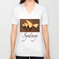 sydney V-neck T-shirts featuring Sydney by Mike Thomas Portraiture