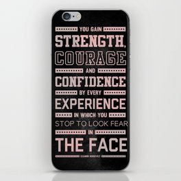 Lab No. 4 Strength Does Not Come Arnold Schwarzenegger Motivational Quote iPhone Skin