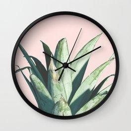 Pineapple on Blush Pink Wall Clock