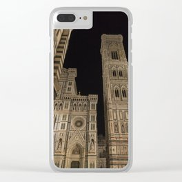 piazza del duomo cathedral square Firenze Tuscany Italy Clear iPhone Case
