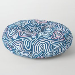 abstract geology Floor Pillow