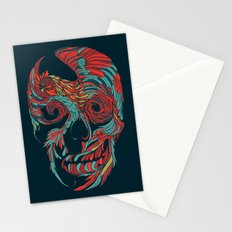 Rooster Skull  Stationery Cards