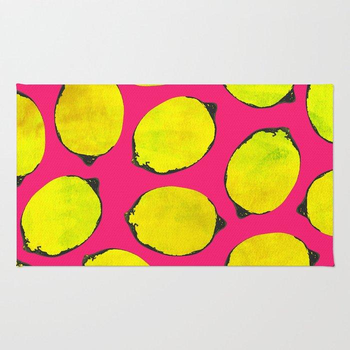 Lemon pattern Rug