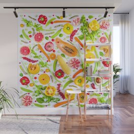 Fruits and vegetables pattern (31) Wall Mural