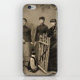 Antique Tintype Penguin iPhone Skin