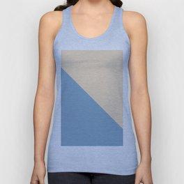blue and beige triangular background Unisex Tank Top