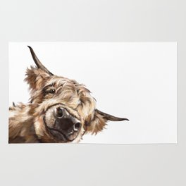 Sneaky Highland Cow Rug