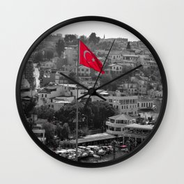 Flag of Turkey POP Wall Clock