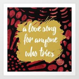 A Love Song Hadestown Art Print