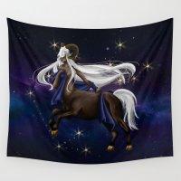 zodiac Wall Tapestries featuring Zodiac by Aoi Hikari Arts
